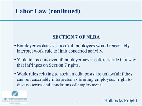 section 49 labour relations act social media privacy laws and legal liabilities