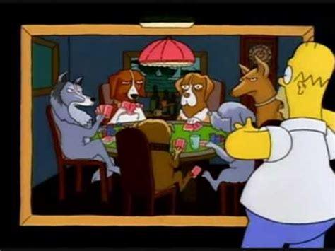 imagenes de animales jugando poker simpsons perros jugando al poker castellano youtube