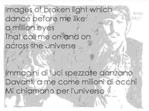 across the universe testo beatles cover across the universe with lyrics testo