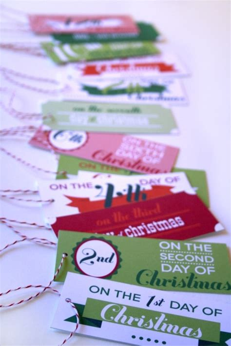 cute 12 days of christmas gift ideas for boyfriend printable 12 days of gift tags favething