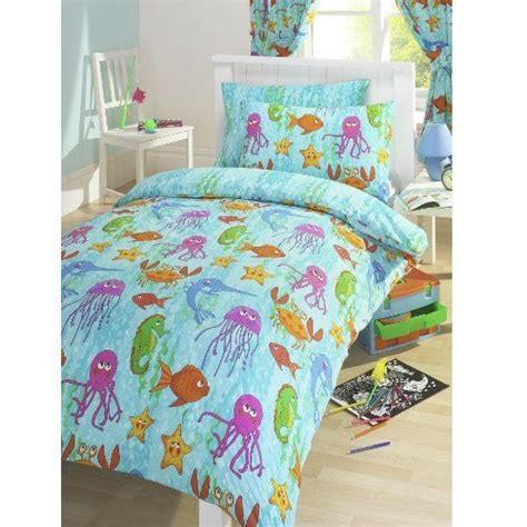 under the sea star fish octopus seahorse double duvet