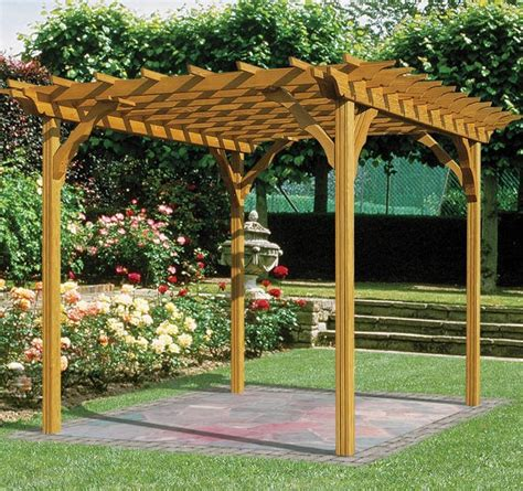 Kt Countryside Outdoor 8 X 8 Ft Freestanding Pergola Kit Freestanding Pergola Kit