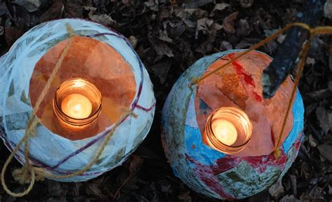 Handmade Lanterns From Paper - handmade paper lanterns ecoparent magazine
