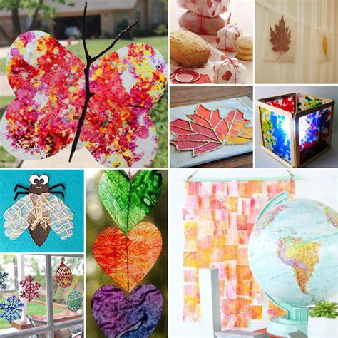 wax paper crafts