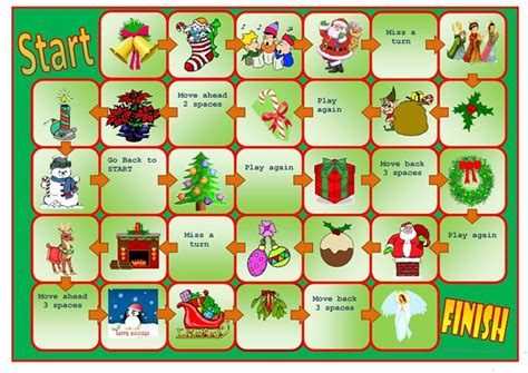 printable board games christmas christmas boardgame worksheet free esl printable