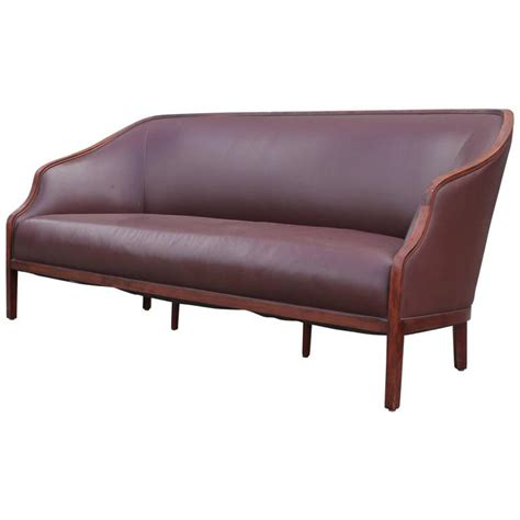elegant leather sofas elegant brown leather sofa by ward bennett at 1stdibs