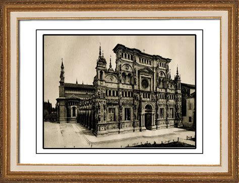 prink pavia antique prints certosa di pavia charterhouse of pavia