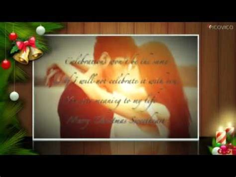 merry christmas romantic greeting cards love quotes  romantic xmas wishes youtube