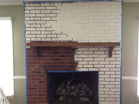 paint a brick fireplace goodbye house hello home decor coaxing paint that brick fireplace