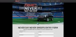 Gmc Never Say Never Sweepstakes - 5 sweepstakes that could send you to super bowl xlix