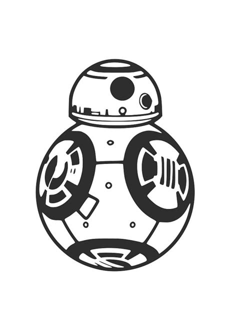 Bb8 Drawing Outline by Wars Bb8 Cutting File Cricut Sihouette