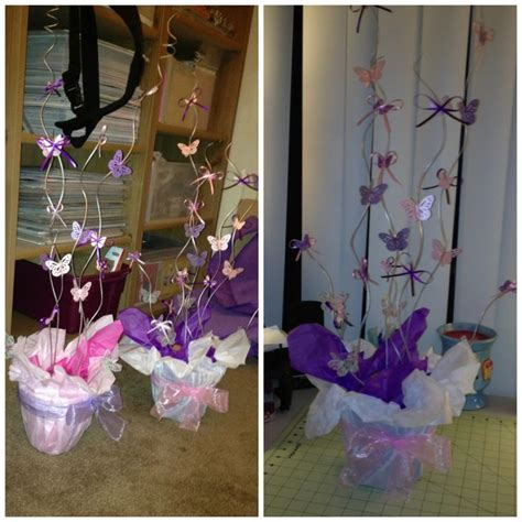 butterfly baby shower centerpieces butterfly centerpiece s i made for a baby shower made by shoosh s creations shoosh s
