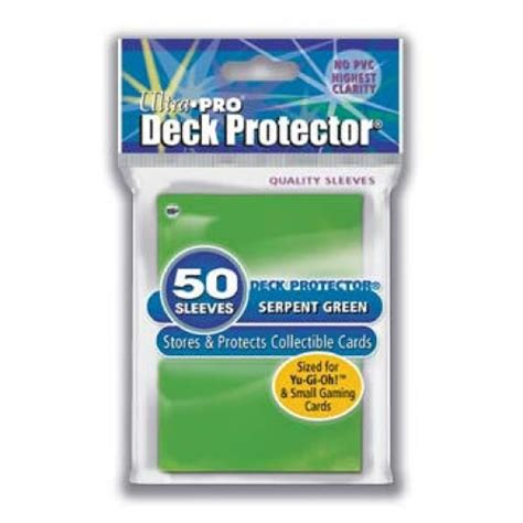 Ultra Pro Deck Protector Small Solid Green ultra pro solid mini deck protectors serpent green 81593 pack of 50 dsmg