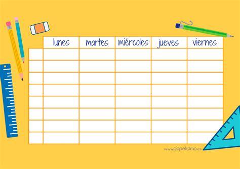 la casa libro horario etiquetas para libros y horario para imprimir papelisimo