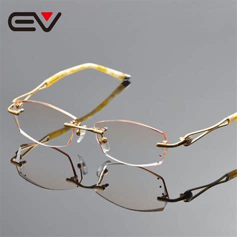 popular gold rimless eyeglasses buy cheap gold rimless