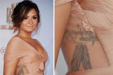 demi lovato s tattoos demi lovato list inkedceleb