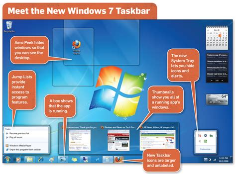 Windows 7 Bar At Top Of Screen by Windows 7 Review Pcworld