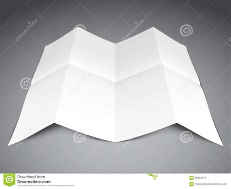 Folded Sheet Of Paper - folded paper sheet stock vector image 56318079