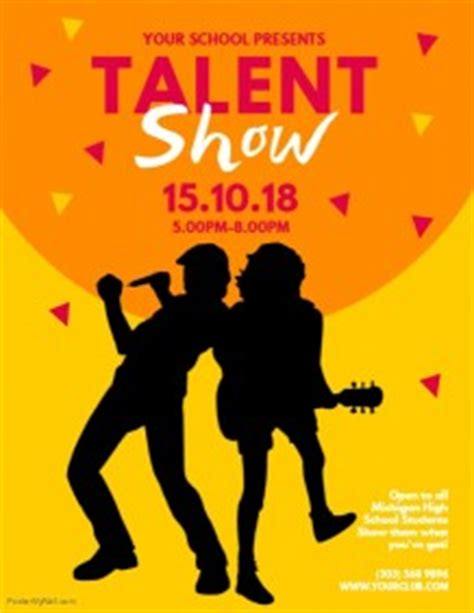 talent show flyer template customizable design templates for talent show postermywall