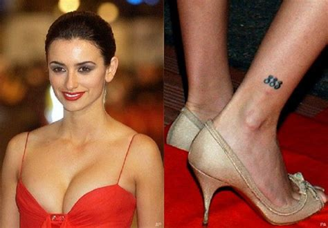 hollywood stars with tattoos penelope cruz 883 tribal
