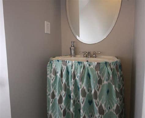 diy bathroom sink skirt top 10 easy diy sink skirts