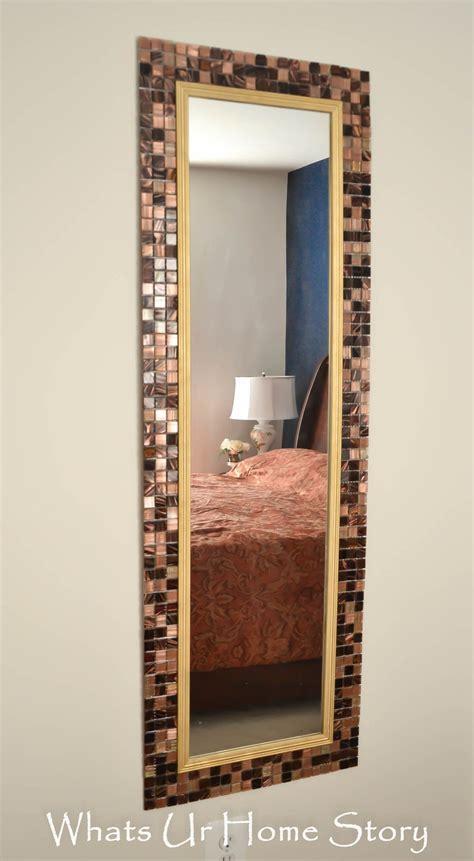 DIY Tile Mirror   DIY Wall Art   Home decor mirrors
