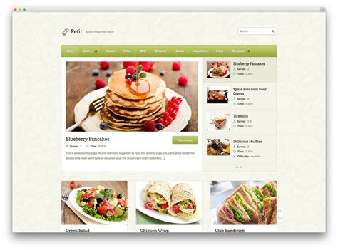 themes wordpress recipes 20 awesome food wordpress themes to share recipes 2017