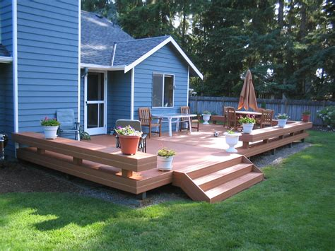 deck in the backyard small deck design ideas st louis decks screened