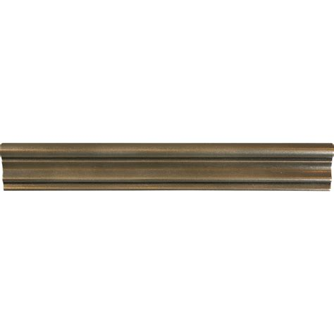 chair rail tile shop bronze metal chair rail tile common 2 in x 12 in