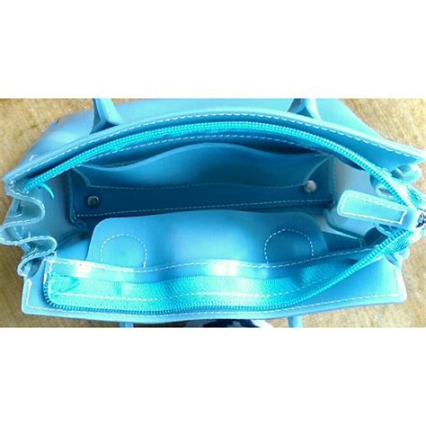 Blue Jelly Bag by 68 Handbags Baby Blue Mini Jelly Birkin Bag