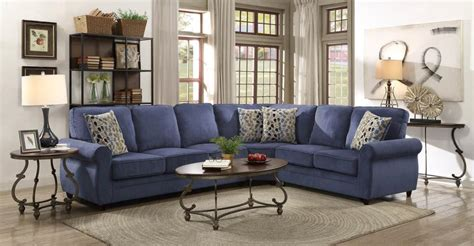 kendrick transitional style blue chenille fabric casual sectional sofa  pull  bed