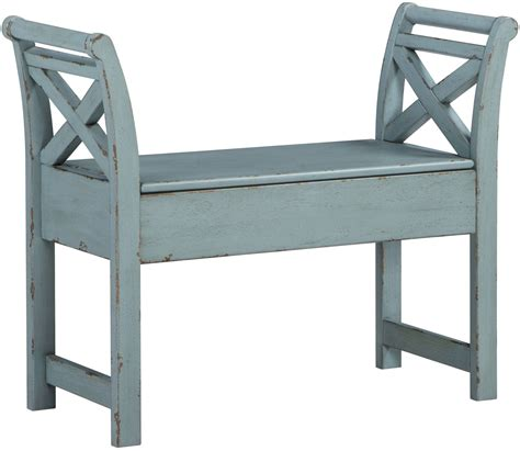 Accent Bench by Heron Ridge Blue Accent Bench From Coleman Furniture