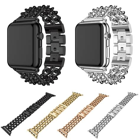 New Apple Stainless Brackelet Iwatch Series 1 2 3 cowboy chain stainless steel link for apple