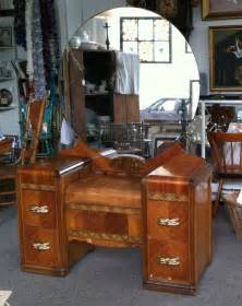 Vanity Table Nyc 1930 1940 S Deco Wood Inlay Vanity Dressing Table With