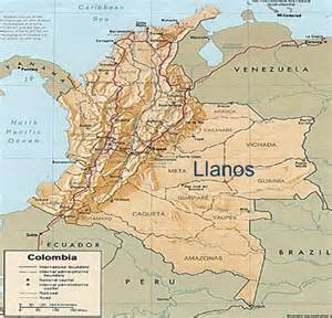 llanos south america map the world s catalog of ideas