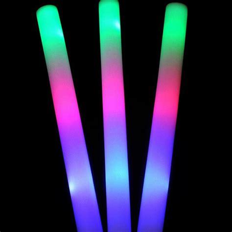 light up foam wands light up foam sticks led wands batons dj