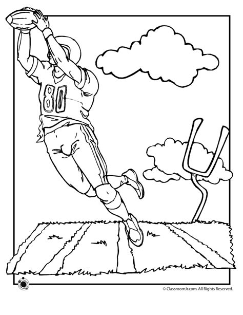 free printable football coloring pages coloring home