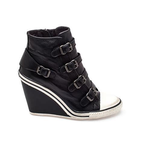 Sneaker Wedges Ankle Autunum Black ash thelma ter wedge sneaker black 330359 ash s