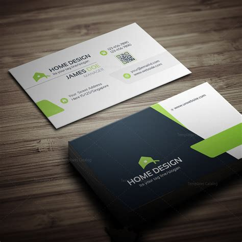design business cards at home home design business card template 000258 template catalog
