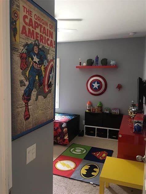 marvel superhero bedroom ideas kid stuff pinterest grey for the 3 walls gray walls and room