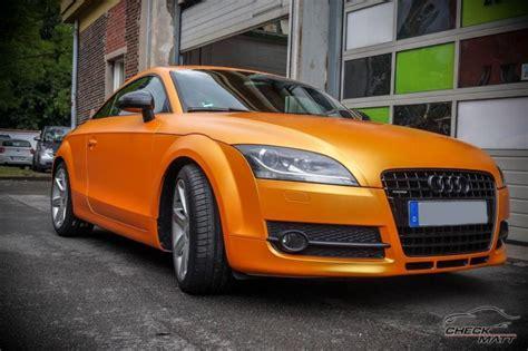 Auto Tuning Dortmund by Metallic Orange Am Check Matt Dortmund Audi Tt