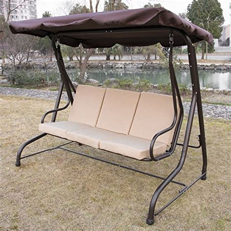 3 seat glider with canopy ainfox summer promotion outdoor 3 person canopy swing