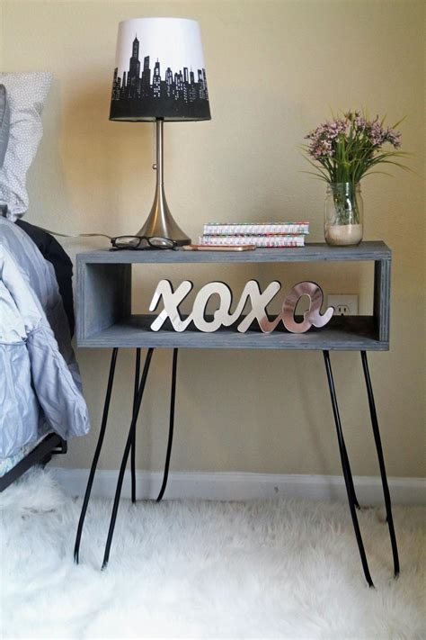 Nightstand Legs by How To Build A Hairpin Leg Nightstand How Tos Diy