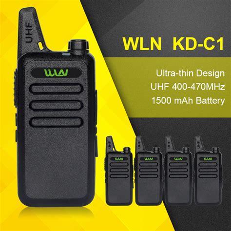 For Wln Walkie Talkie Two Way Radio 1 4pcs portable radio set wln kd c1 rechargeable walkie