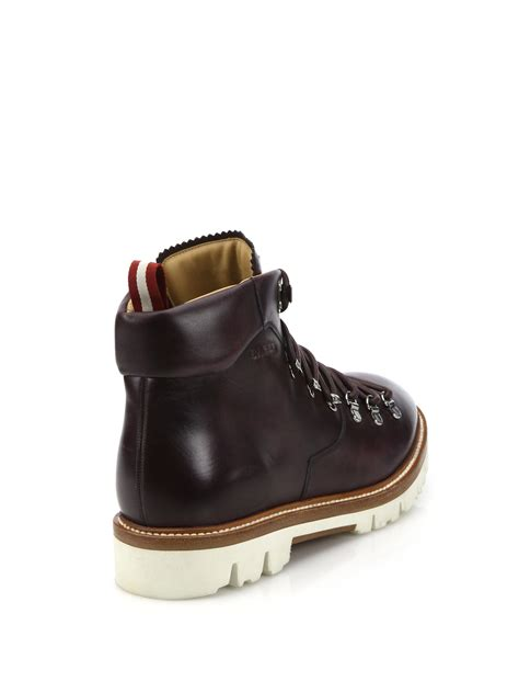 bally boots bally j cole for leather hiking boots in for lyst