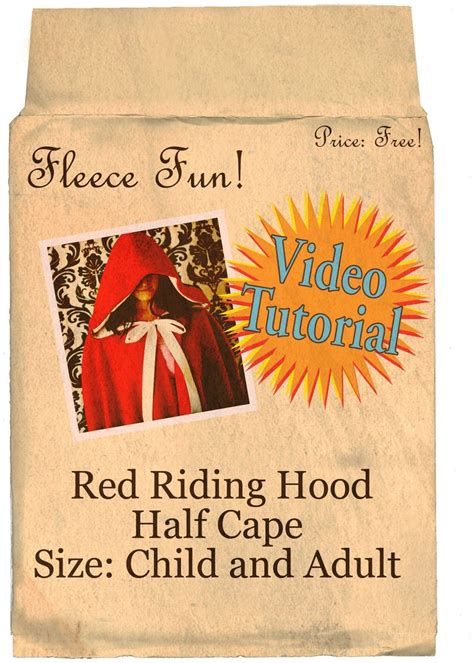 simple pattern for red riding hood cape red riding hood cape pattern