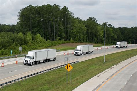 volvo trucks  fedex successfully demonstrate truck platooning  nc  triangle expressway