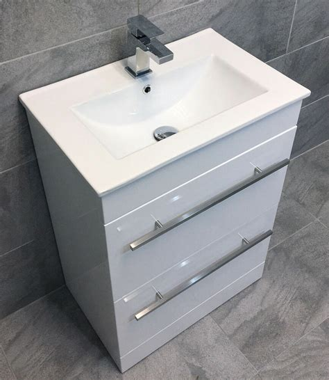 Kitchen Sink Vanity Unit by Savu 600mm Square Vanity Unit Ceramic Basin Sink