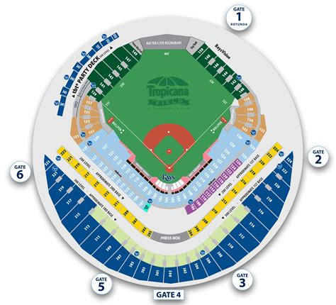 tropicana field seating chart with rows and seat numbers rays baseball seating chart pictures to pin on