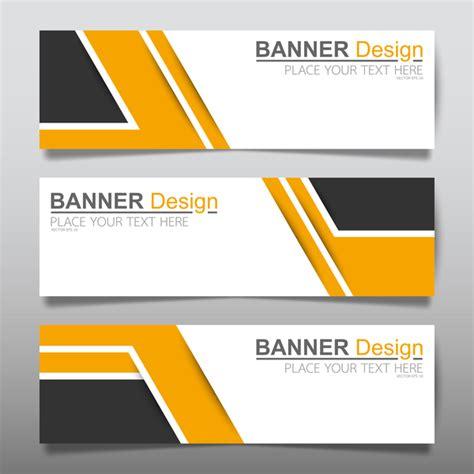 banner design vector file vector set of modern banners template design 06 vector